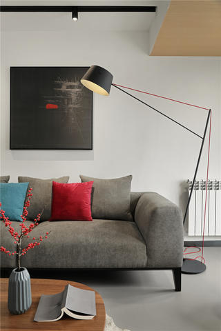 复式极简风装修客厅沙发设计