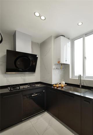 复式极简风厨房装修效果图