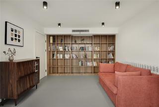 复式极简风书房装修效果图