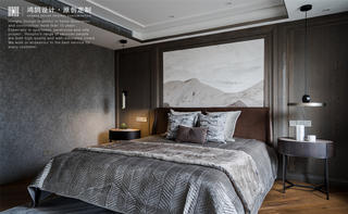 现代风别墅卧室装修效果图