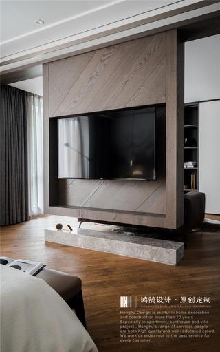 现代风别墅装修悬空电视柜设计
