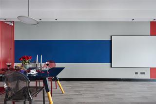 89㎡二居室餐厅背景墙装修效果图