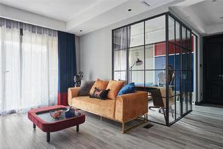 89㎡二居室裝修玻璃隔斷設計