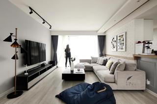 160平现代北欧风客厅装修效果图