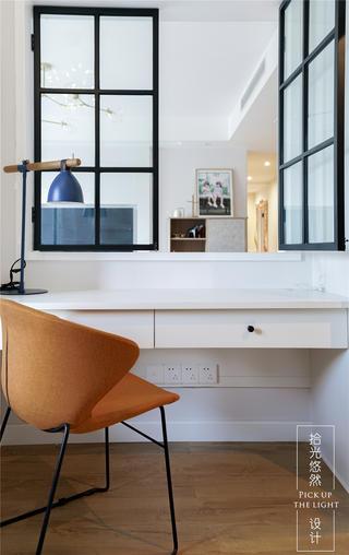 125平北欧风格装修书桌椅设计