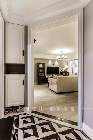 美式風兩居室玄關裝修效果圖