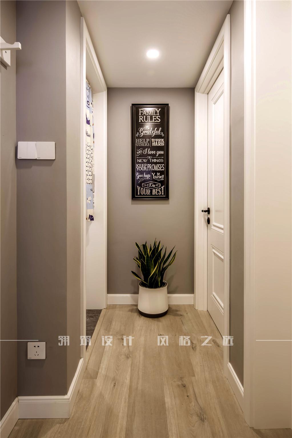 美式风两居室过道装修效果图