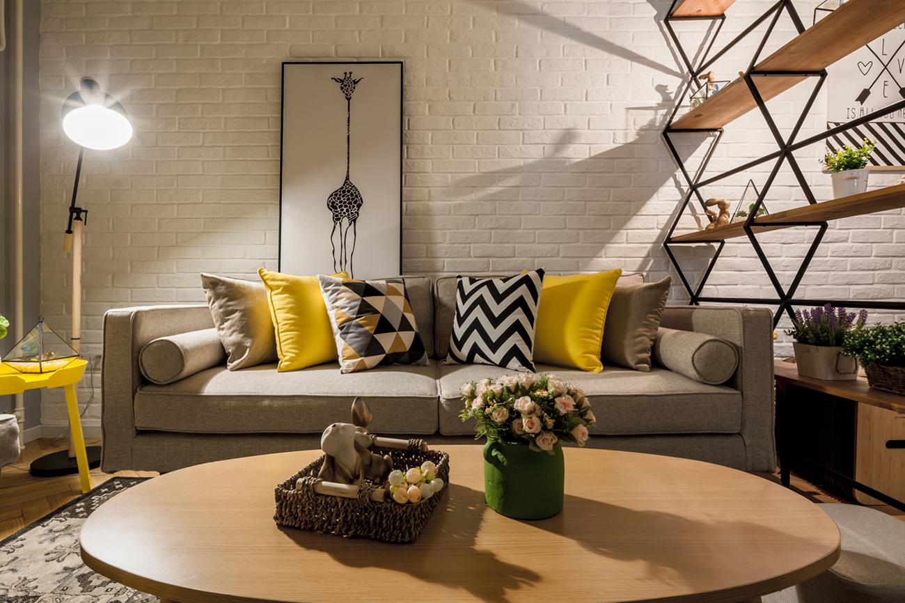 北欧风格二居室沙发墙装修效果图