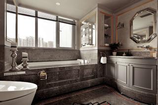 现代法式别墅卫生间装修效果图