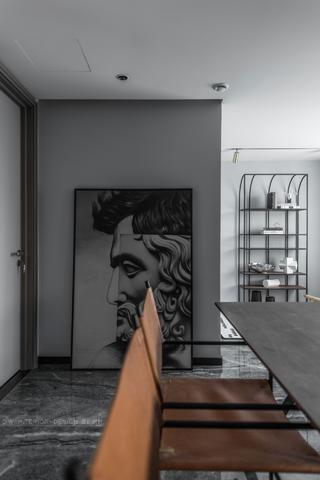 125平米三居室裝修餐廳一角