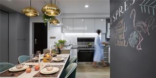 113平现代简约风厨餐厅装修效果图