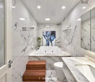 现代混搭风别墅卫生间装修效果图