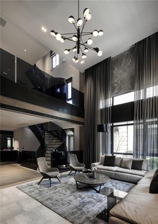 现代风别墅客厅装修效果图