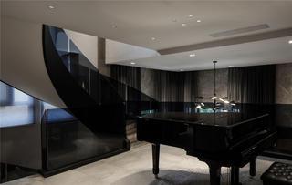 现代风别墅钢琴区装修效果图