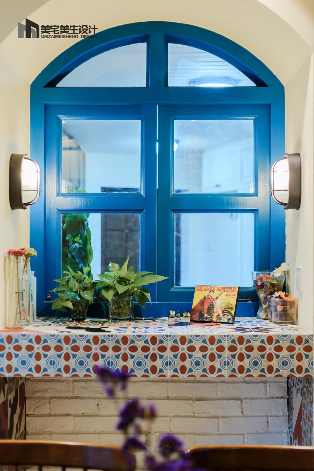 130㎡美式田园风装修弧形窗设计