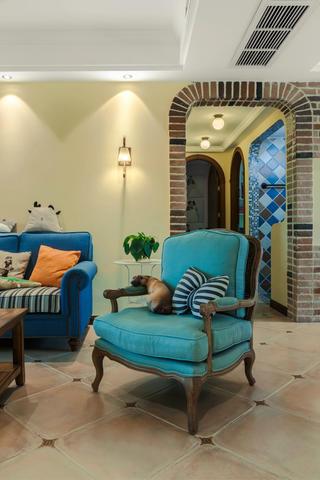 130㎡美式田园风装修沙发椅设计