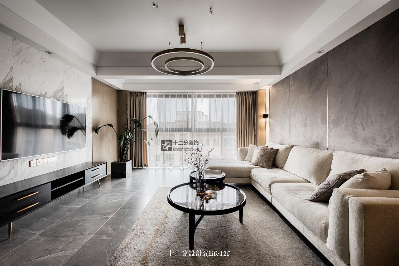 115平三居室客厅装修效果图