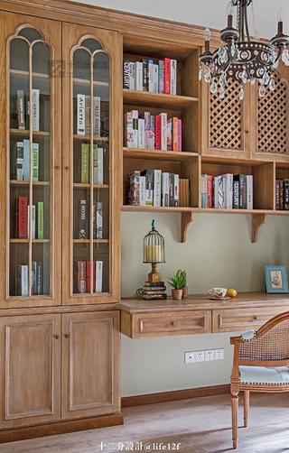 法式乡村风格书房装修效果图