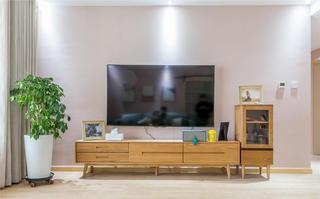 110㎡日式三居电视背景墙装修效果图