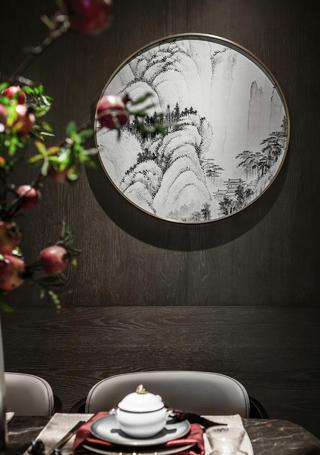 118平新中式风格装修餐厅局部图