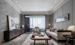 118平新中式风格客厅装修效果图