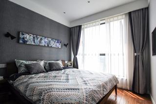 80㎡现代北欧三居卧室装修效果图