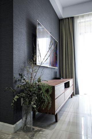 80㎡现代北欧三居电视背景墙装修效果图