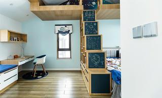 儿童房学习区装修效果图