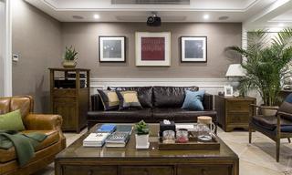 美式复式三居室装修效果图