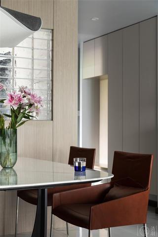 115㎡简约现代风格装修餐桌椅设计图