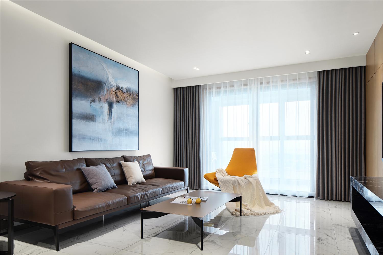 极简现代风三居客厅装修效果图