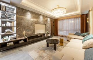 三居室轻奢现代风装修效果图