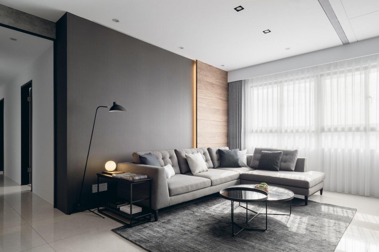 四居室现代风格客厅装修效果图