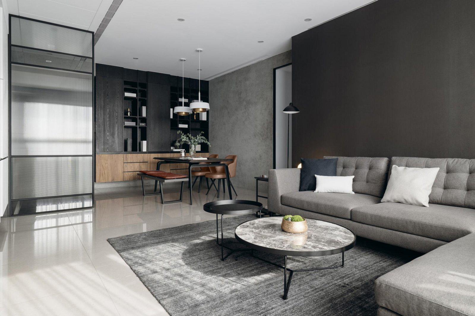 四居室现代风格客餐厅装修效果图