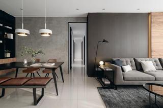 四居室现代风格客餐厅过道装修效果图