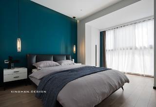 110平现代简约卧室装修效果图