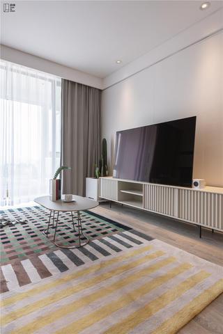 简约风格二居室电视背景墙装修效果图