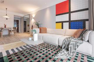 简约风格二居室装修沙发设计图