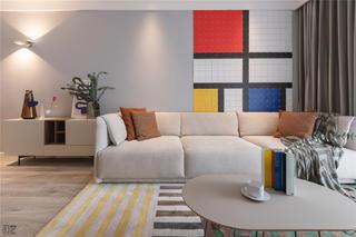 简约风格二居室沙发背景墙装修效果图