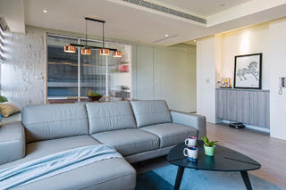 现代简约二居室装修沙发设计图
