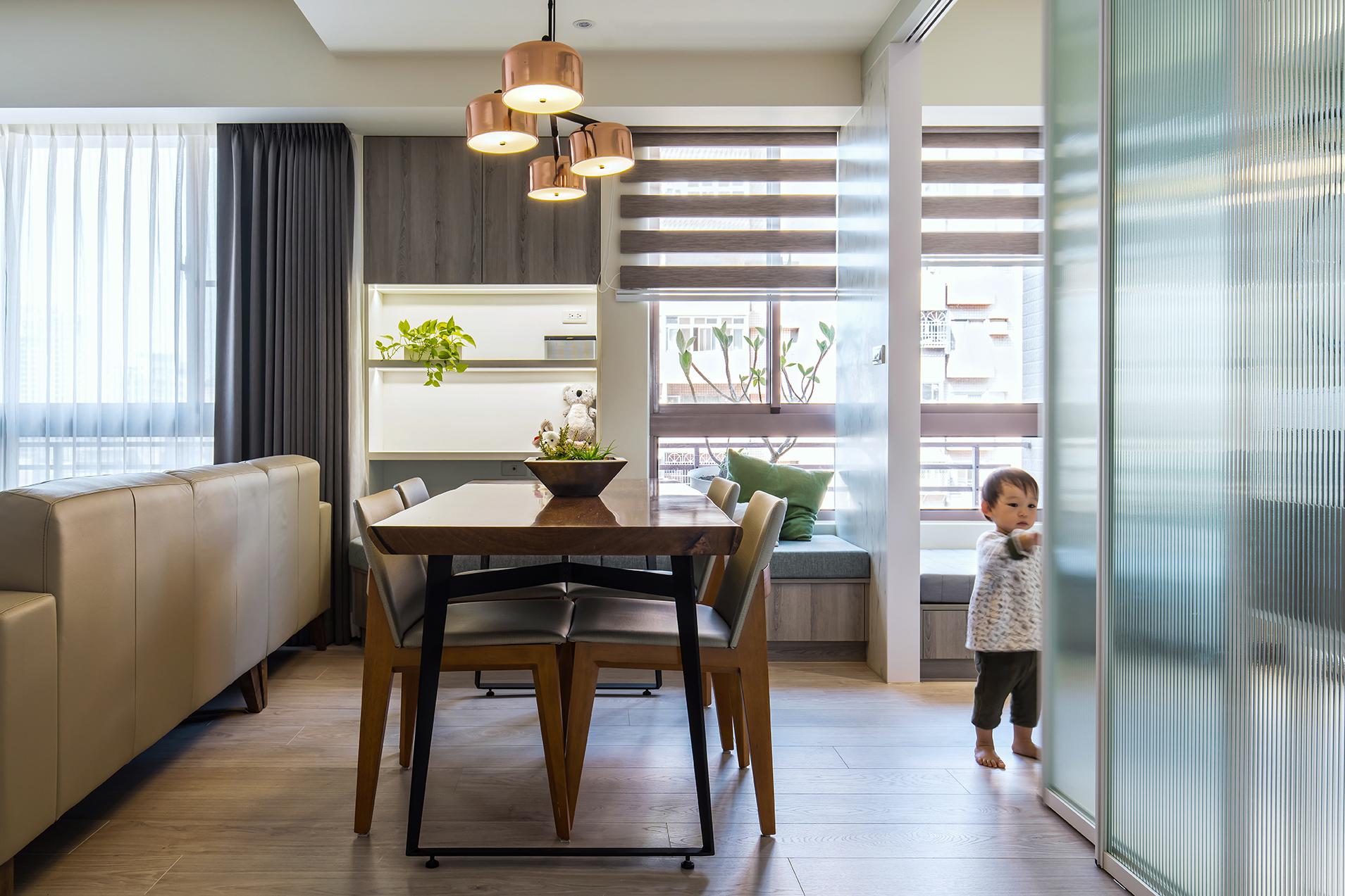 现代简约二居室餐厅装修效果图