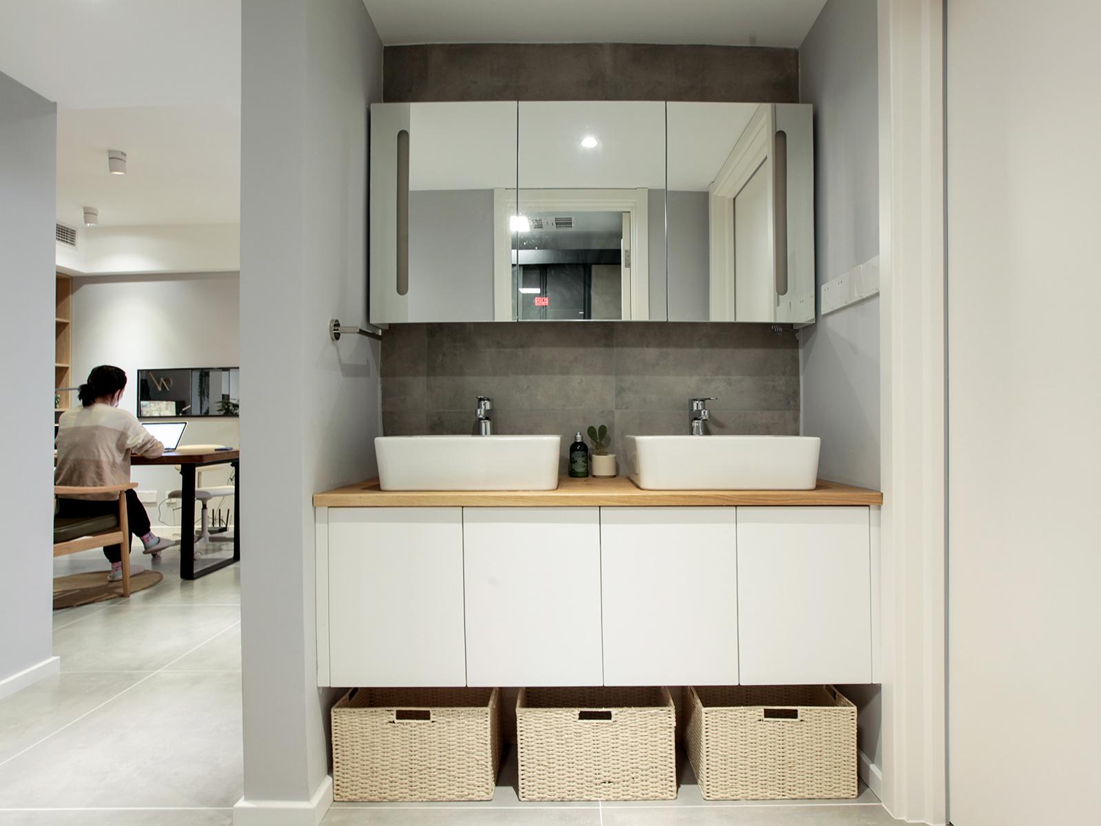 78㎡现代二居洗手台装修效果图