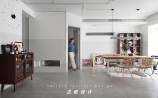 123平米兩居室餐廳裝修效果圖