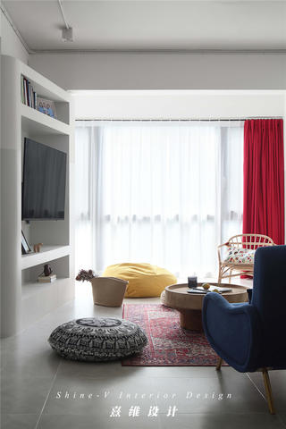 123平米两居室客厅装修效果图