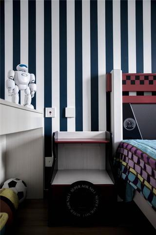 现代轻奢三居室装修床头柜设计图