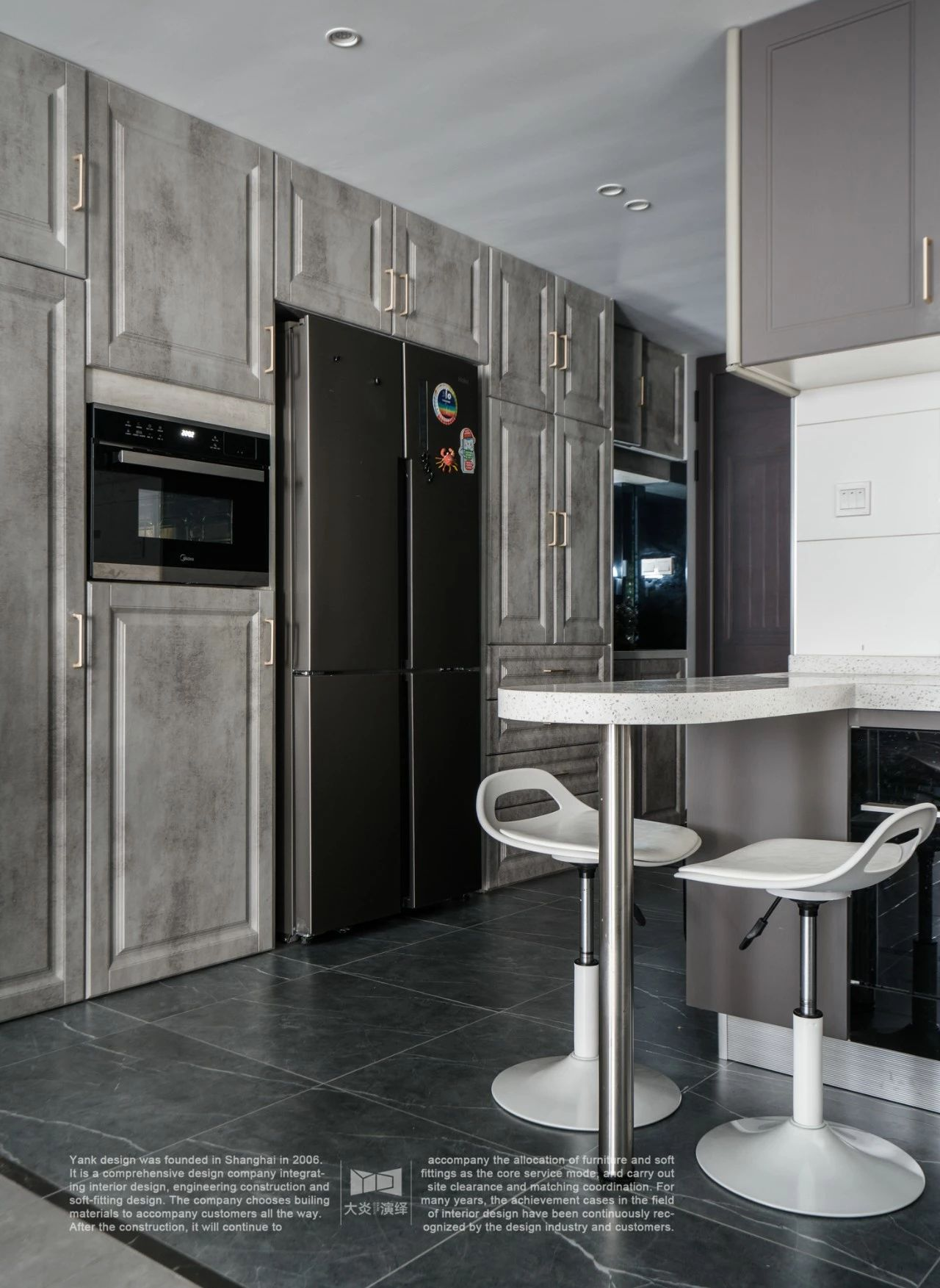 170平现代美式风厨房装修效果图