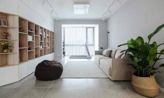 78㎡现代二居装修效果图