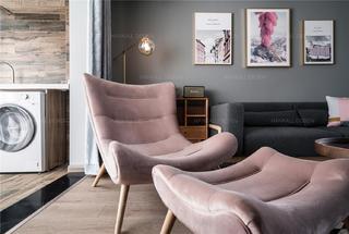 北欧混搭风二居装修躺椅设计图