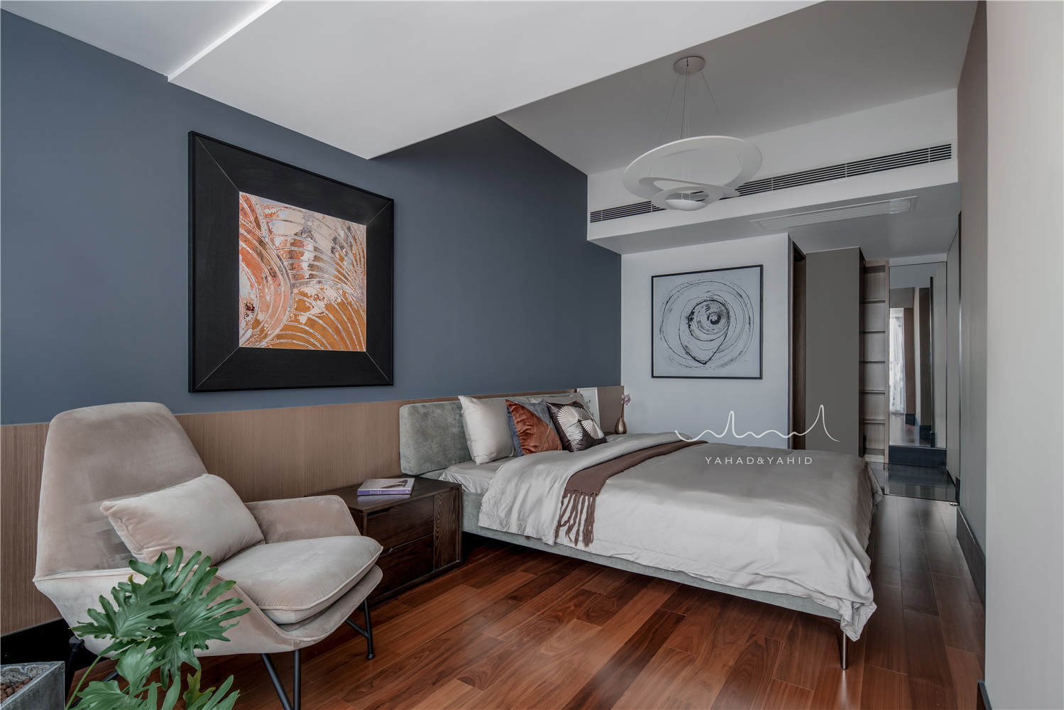 104㎡现代风格卧室装修效果图