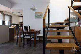 现代MUJI风三居餐厅装修效果图